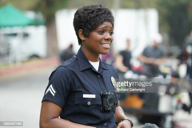 THE ROOKIE 'The Ride Along' Sergeant Grey informs Officer Nolan and Officer Bishop that they are going to have a movie director as a ridealong during...