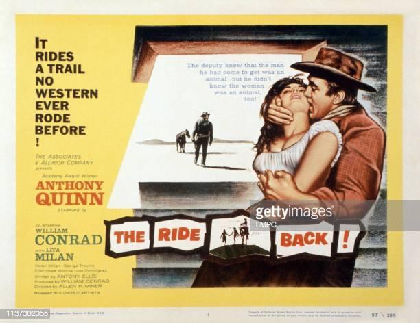 The Ride Back US lobbycard Lita Milan Anthony Quinn 1957
