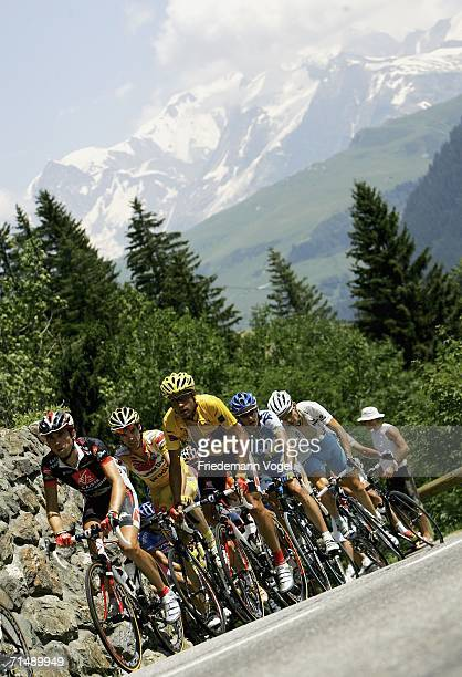The riders make their way through the French countryside during Stage 17 of the 93rd Tour de France between Saint-Jean-de-Maurienne and...