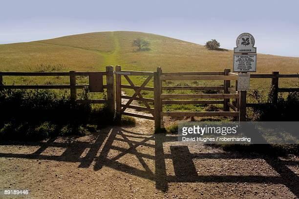 the ridgeway path, pitstone hill, chilterns, buckinghamshire, england, united kingdom, europe - バッキンガムシャー ストックフォトと画像