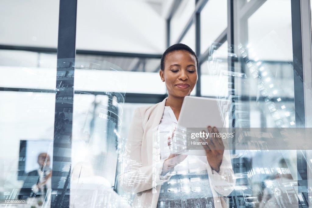 Las aplicaciones de negocio adecuado pueden tomar lugares : Foto de stock