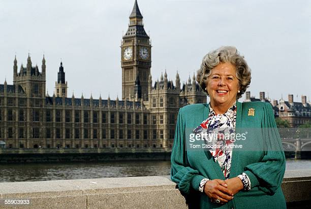 The Right Honourable Betty Boothroyd MP photographed at the House of Commons