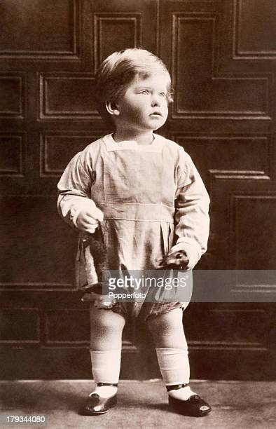 The Right Honourable George Henry Hubert Lascelles, elder son of HRH The Princess Royal and Viscount Lascelles, circa 1925.