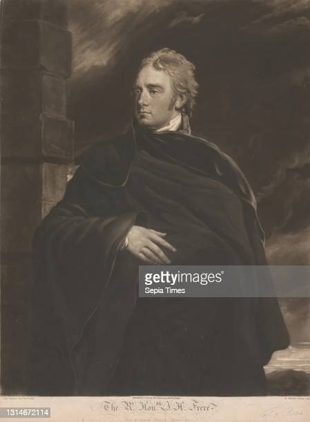 The Right Honourable John Hookham Frere, William Whiston Barney, active 1805–1817, British, after John Hoppner, 1758–1810, British Mezzotint on...