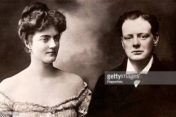 The Right Honourable Winston Churchill MP and his fiancee Miss Clementine Hozier circa 1908