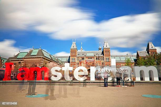 The Rijksmuseum and I Amsterdam sign - Long exposure