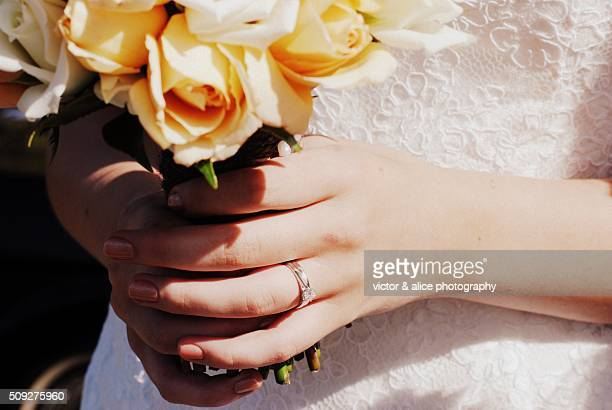 The ring and a bouquet