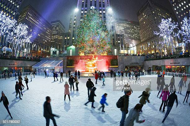 The Rink at Rockefeller Center during The Holidays, New York City.