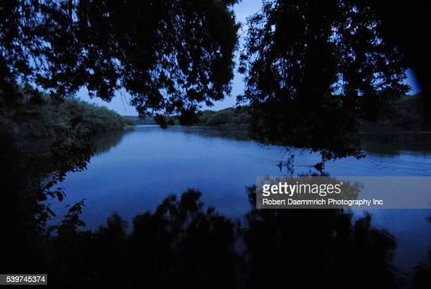 The Rio Grande River outside of Del Rio Texas seperates Mexico and the United States