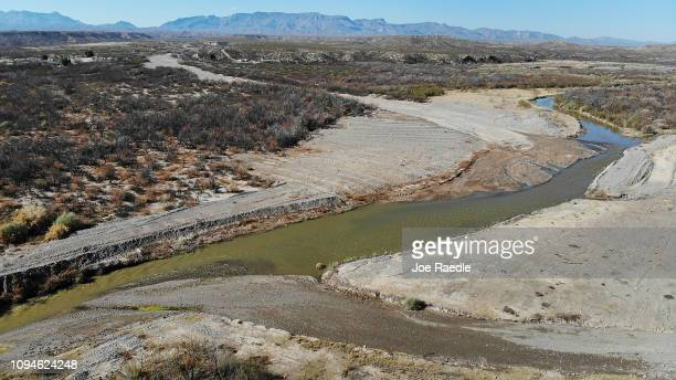 The Rio Grande river that marks the boundary between the United States and Mexico is seen on January 15 2019 in Esperanza Texas The US government is...