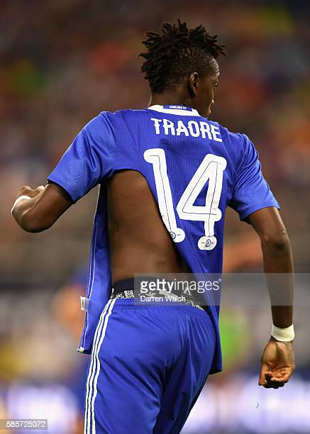 The ripped shirt of Bertrand Traore of Chelsea is seen during the 2016 International Champions Cup match between Chelsea and AC Milan at US Bank...