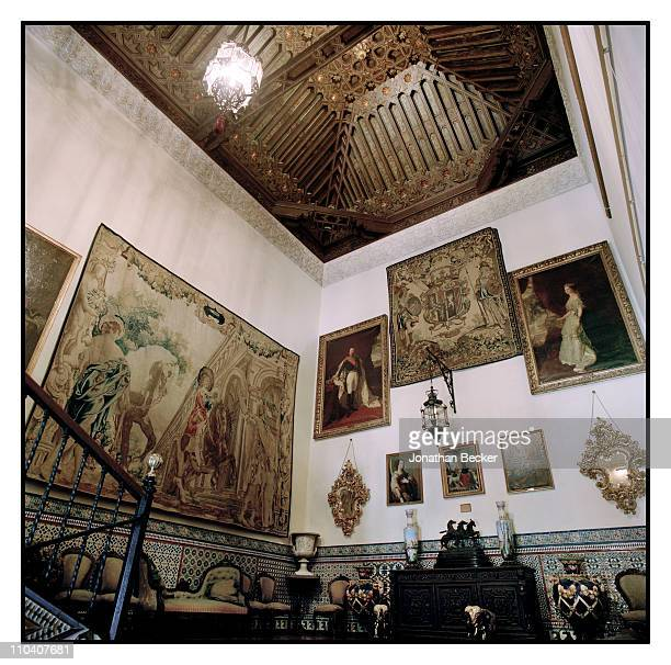 The rise of the main staircase of the Palacio de Duenas is photographed for Vogue Espana on March 1517 2010 in Seville Spain Published image