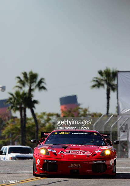 The Risi Competizione entry during practice for the Tequila Patron American Le Mans Series race at 35th Annual Toyota Grand Prix of Long Beach