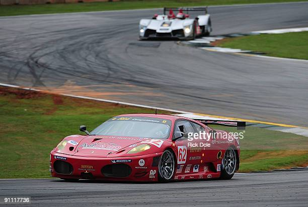The Risi Competizione Ferrari 430 GT driven by Jamie Melo Mika Salo and Pierre Kaffer during practice for the American Le Mans Series Petit Le Mans...