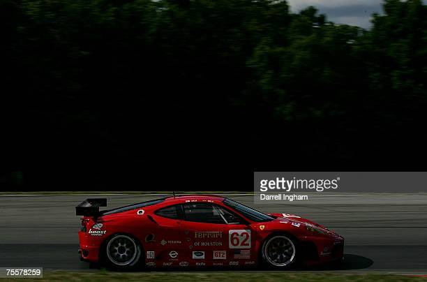 The Risi Competizione Ferrari 430 GT driven by Mika Salo during practice for the American Le Mans Series Acura Sports Car Challenge on July 20 2007...