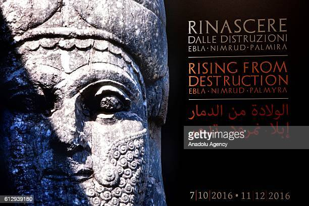 """The """"Rising From Destruction"""" exhibition that illustrates recreations of historical monuments destroyed by the war and terrorism is seen at Colosseum..."""