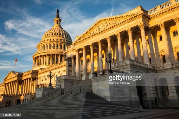 The rising sun illuminates the United States Capitol Building on September 19 2019 in Washington DC Intelligence Community Inspector General Michael...