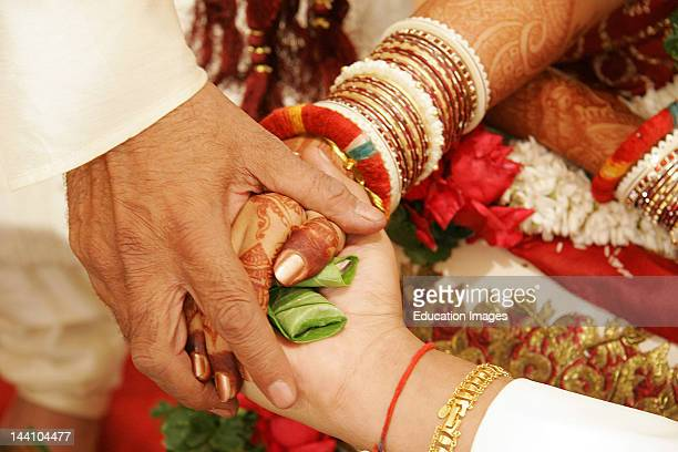 The Ritual Called 'Hastmelap' Being Performed During Indian Gujarati Wedding Hastmelap Is A Ritual In Which The Bride Father Gives His Daughter'S...
