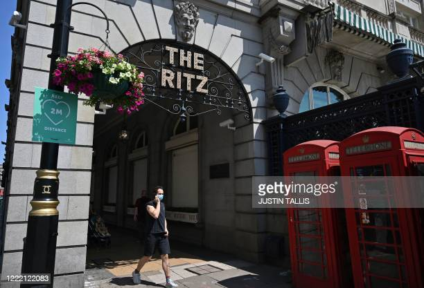 The Ritz hotel currently closed to visitors due to the ongoing COVID19 pandemic is pictured in central London on June 23 2020 Pubs restaurants hotels...