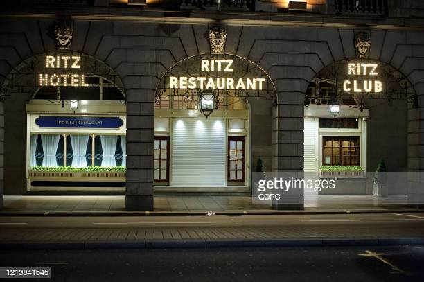 The Ritz Hotel in London's West End on March 20 2020 in London t least 182 countries claiming over 11000 lives and infecting more than 265000 people...