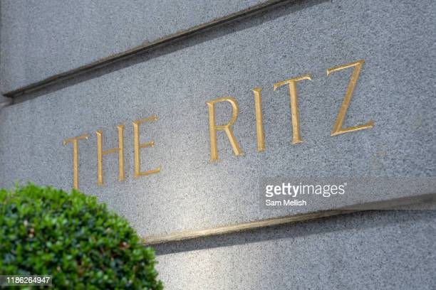 The Ritz hotel sign on the 4th October 2019 in London in the United Kingdom