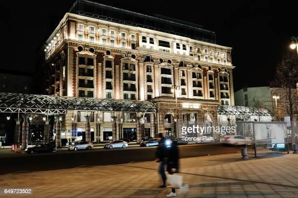 The RitzCarlton Moscow stands in the city center on March 7 2017 in Moscow Russia Relations between the United States and Russia are at their lowest...