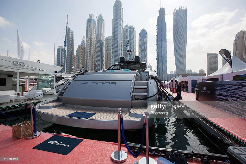 Luxury Yachts At The Dubai International Boat Show : News Photo