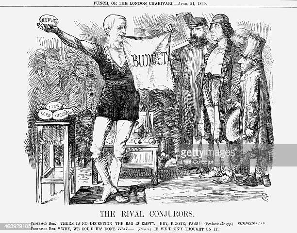 'The Rival Con jurors' 1869 The new Liberal Chancellor for the Exchequer introduced his first Budget Income tax was reduced by 1penny in the pound...