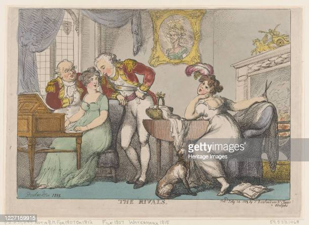 The Rivals, July 14, 1807. Artist Thomas Rowlandson.
