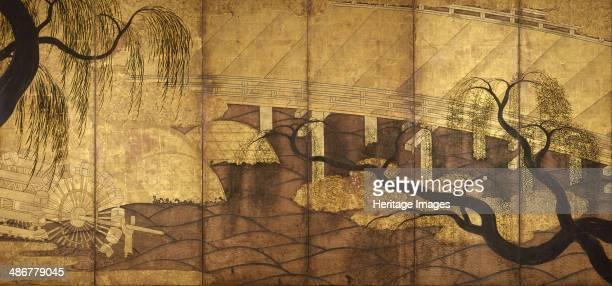 The River Bridge at Uji 15681615 Artist Anonymous