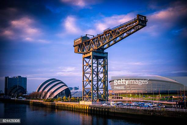 the river clyde, glasgow - glasgow scotland stock photos and pictures