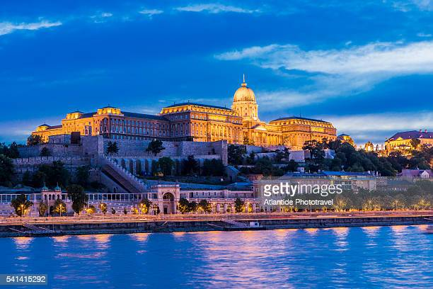 The river Danube and the Varhegy (Buda Castle Hill) with the Royal Palace (Kiralyi Palota)