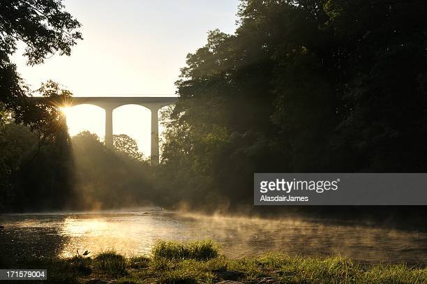 the river dee at pontcysyllte - north wales stock pictures, royalty-free photos & images