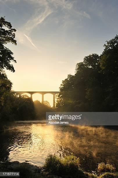 El río Dee en Pontcysyllte retrato