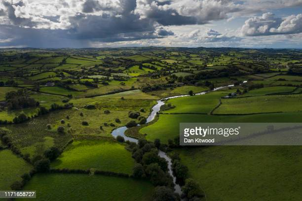 The River Fane tracks the border between Ireland and Northern Ireland on August 28, 2019 in Cullaville, Ireland. The 310m/500 km border runs through...