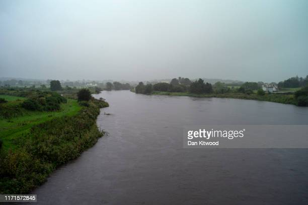 The River Finn forms the border between Ireland and Northern Ireland on August 30 2019 in Strabane Northern Ireland The 310m/500 km border runs...