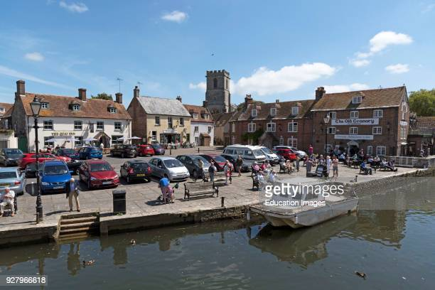 The River Frome at Wareham a small Dorset England town.