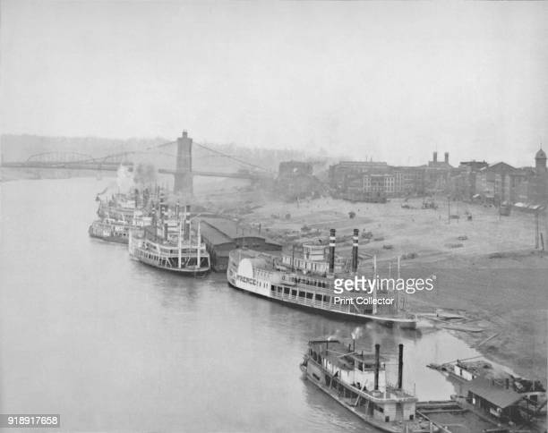 'The River Front at Cincinnati' 19th century From The Colonial Portfolio [The Werner Company London]Artist Unknown