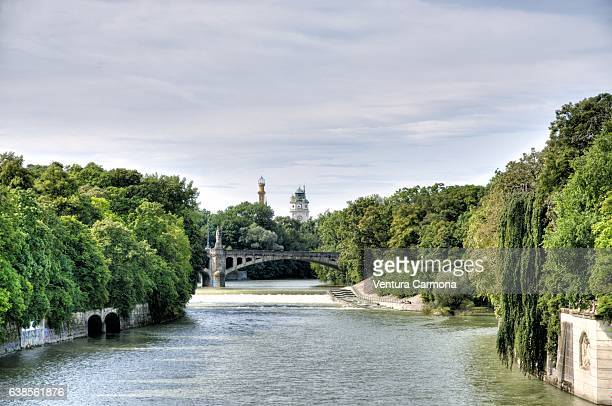 The River Isar in Munich, Germany