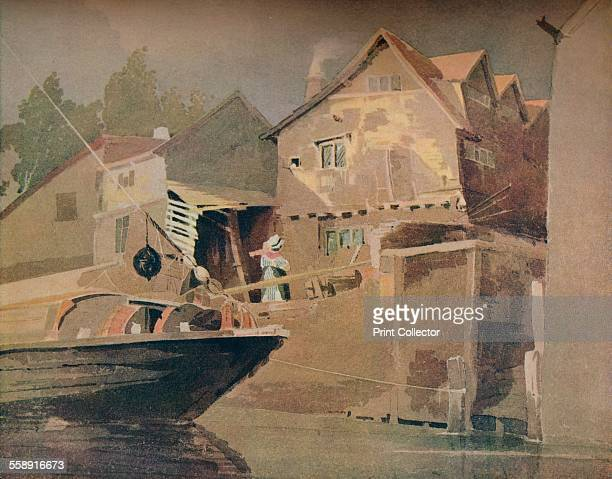 'The River King Street Norwich' c1800 Painting held at the Victoria Albert Museum London From The Connoisseur Volume LXXXIII edited by C Reginald...