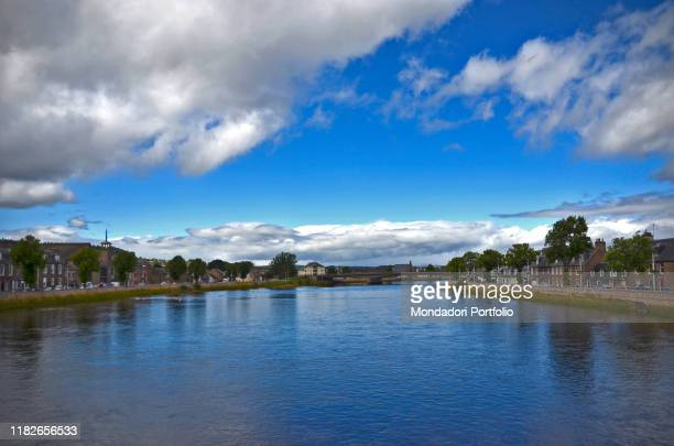 The river Ness flow through the city centre in Inverness, in scottish highlands. Inverness, August 11th 2017