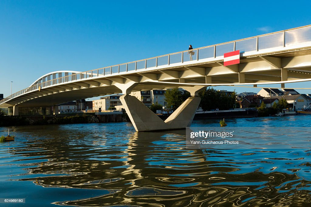 The River Oise, Compiegne, Picardy, France : Stock Photo