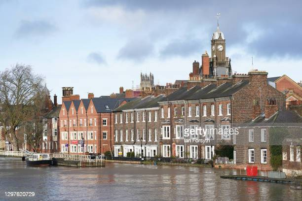 The River Ouse in York floods as rain and recent melting snow raise river levels on January 21, 2021 in York, England. Storm Christoph is the first...