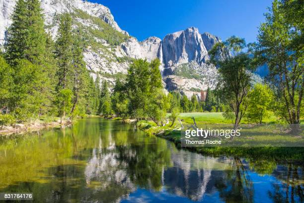The river runs through Yosemite Valley