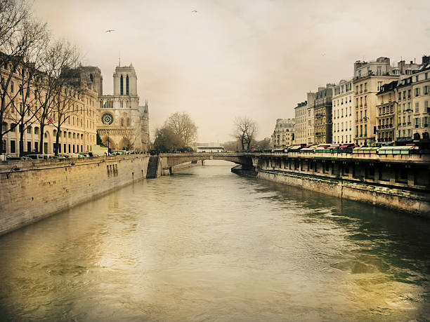 The river Seine and Saint-Michel bridge
