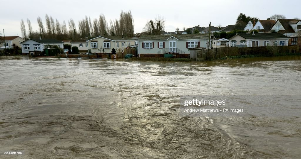 The River Stour In Spate At Iford Bridge Home Park Bournemouth Residents From