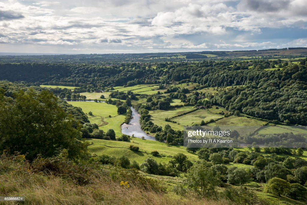 The river Swale near Richmond, Yorkshire Dales, England : Stock Photo