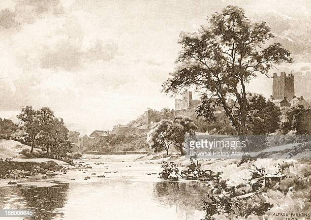 The River Swale Richmond North Yorkshire England In The Late 19Th Century From Picturesque History Of Yorkshire Published C1900