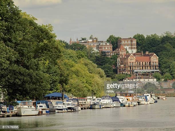 The River Thames flowing through Richmond
