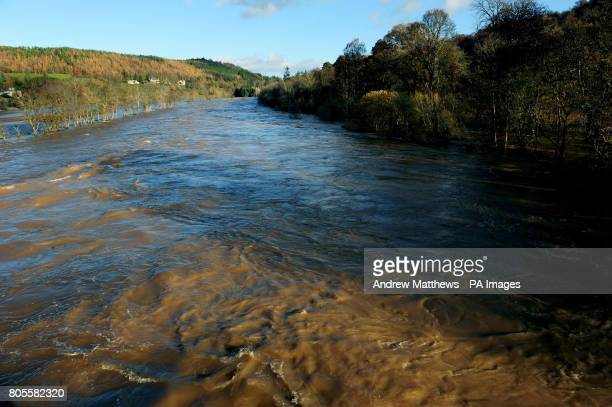 The river Tweed at Boleside near Selkirk in the Scottish borders